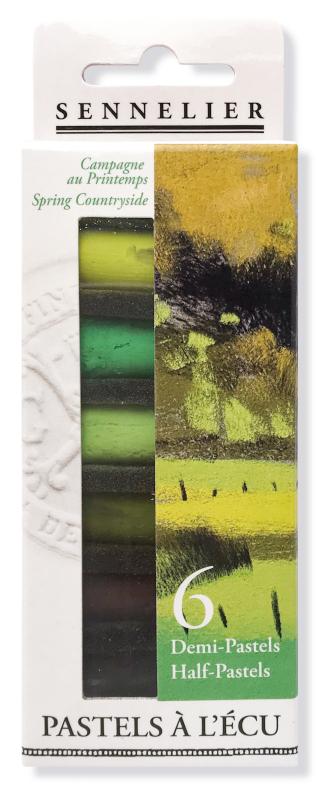 "Mjukpastell Sennelier Cardboard box - 6 1/2 pastel ""à lécu"" - Spring Countryside"