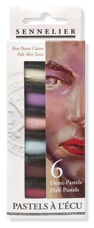 "Mjukpastell Sennelier Cardboard box - 6 1/2 pastel ""à lécu"" - Pale Skin Tones"