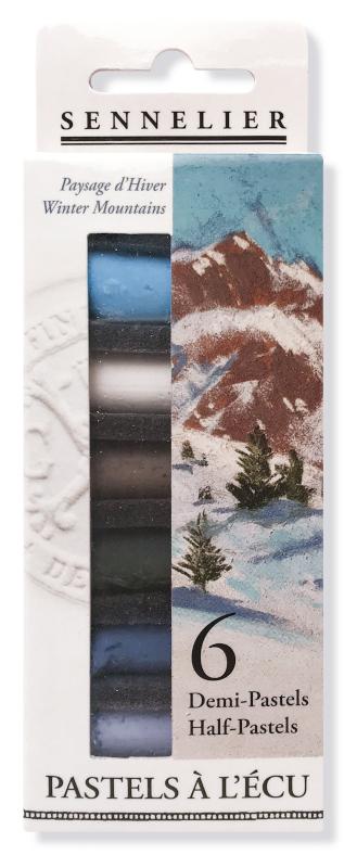 """Mjukpastell Sennelier Cardboard box - 6 1/2 pastel """"à lécu"""" -"""