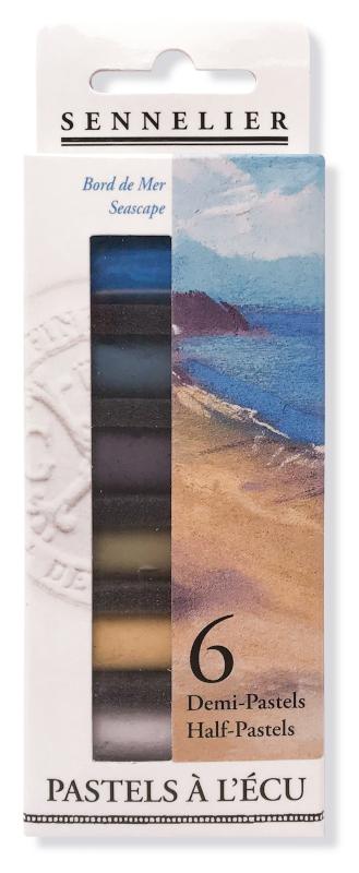 "Mjukpastell Sennelier Cardboard box - 6 1/2 pastel ""à lécu"" - Seascape"