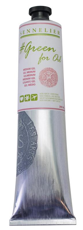 Oljemedium Sennelier GreenForOil Gel medium 200ml