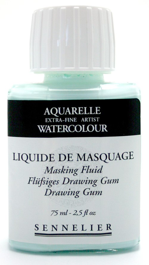 Akvarellmedium Sennelier Liquid Drawing gum 75ml