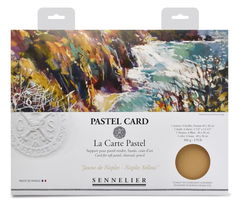 Pastellpapper Sennelier Pastel Card pack - 6 sheets 40x30cm - Monochrome Yellow Naples