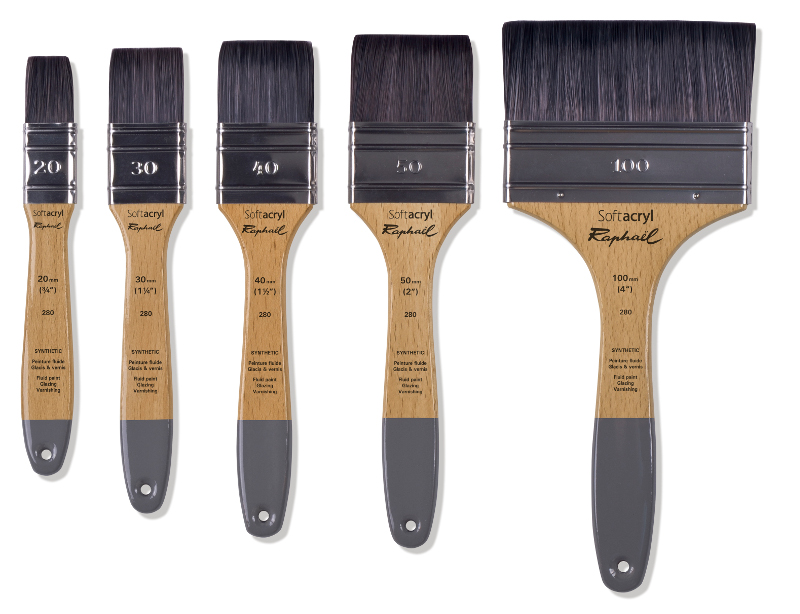 Syntetpensel Raphael SoftAcryl multimedia FLAT brush. 20mm (3F)