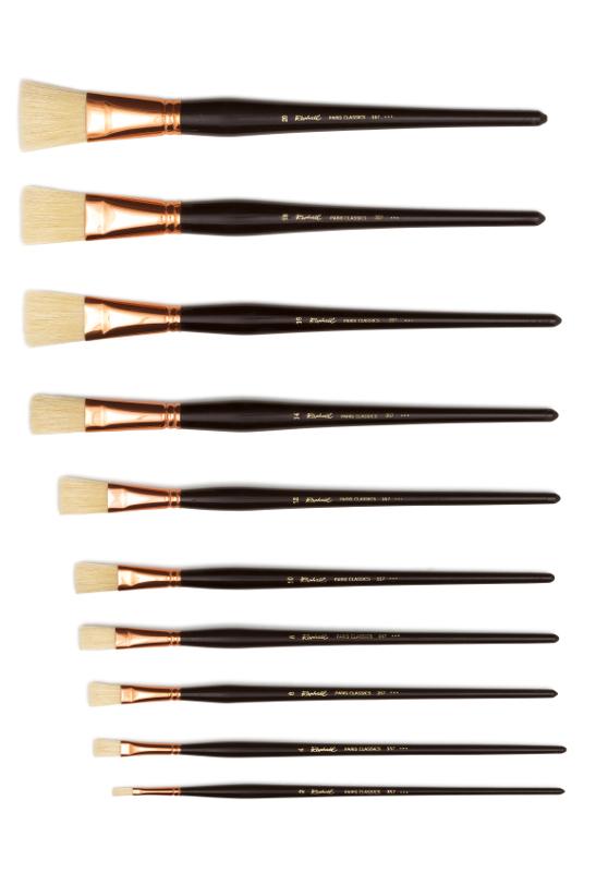 Svinborstpensel Raphael 357 Paris Classics. Flat st 2