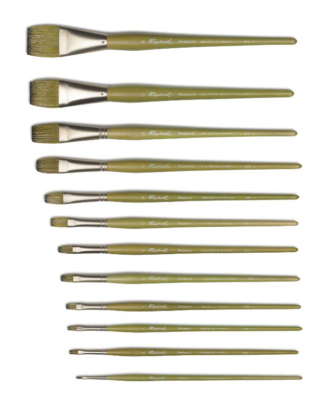 Svinborstpensel Raphael Mixacrylic 875 Flat st 0 (5F) utgått