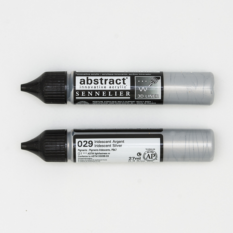 Akrylfärg Sennelier Abstract Liners 27ml Iridescent Silver 029 (3F)