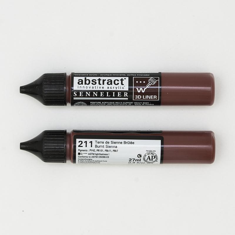 Akrylfärg Sennelier Abstract Liners 27ml Burnt Sienna 211 (3F)
