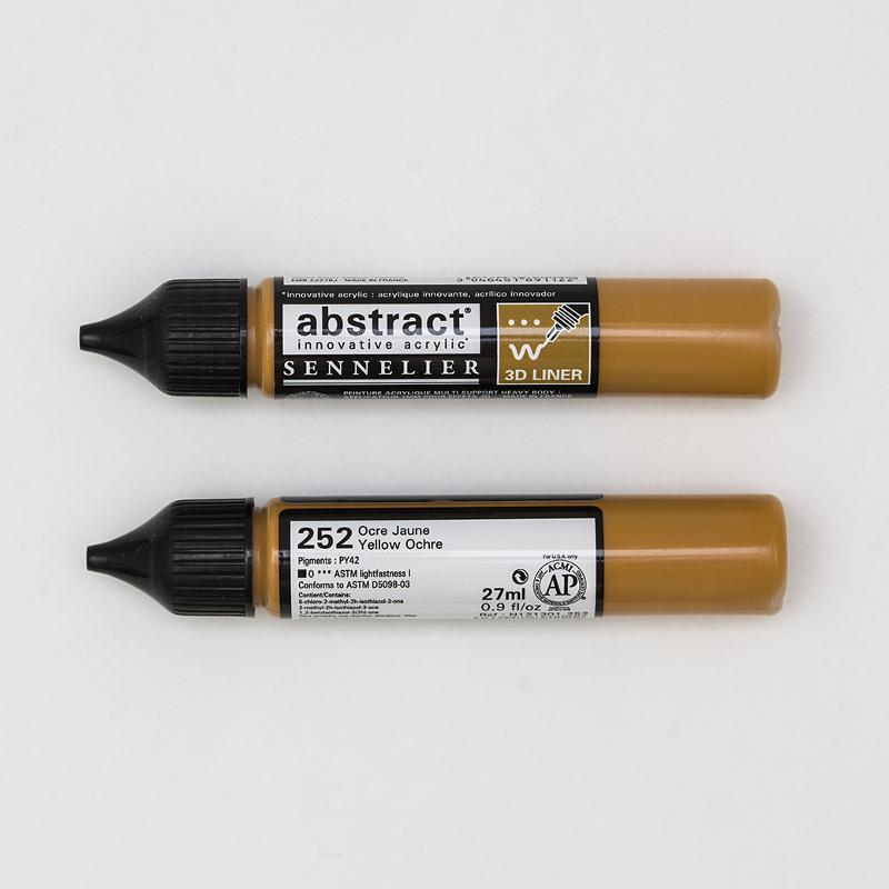 Akrylfärg Sennelier Abstract Liners 27ml Yellow Ochre 252 (3F)