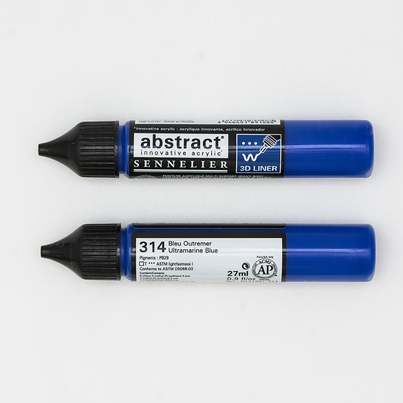 Akrylfärg Sennelier Abstract Liners 27ml Ultramarine Blue 314 (3F)
