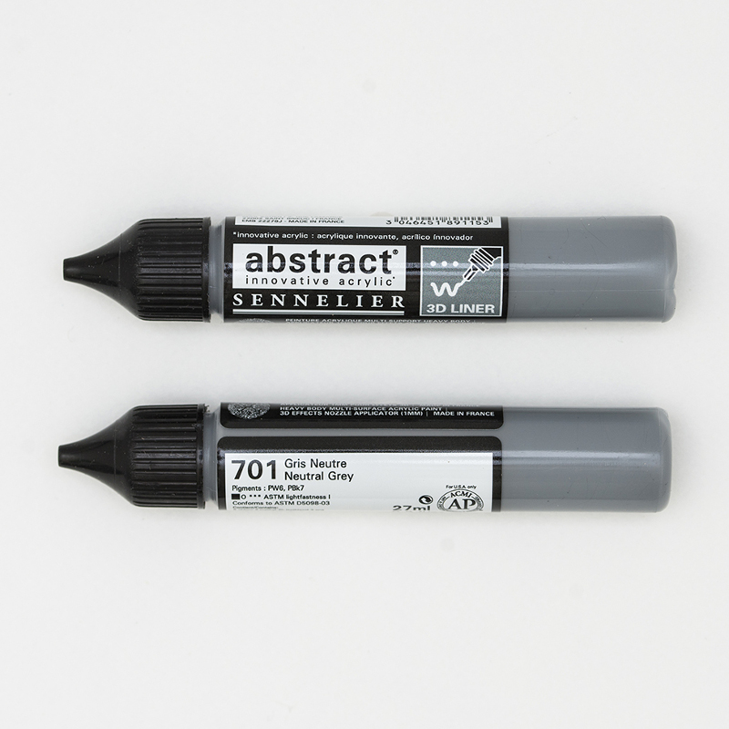 Akrylfärg Sennelier Abstract Liners 27ml Neutral Grey 701 (3F)