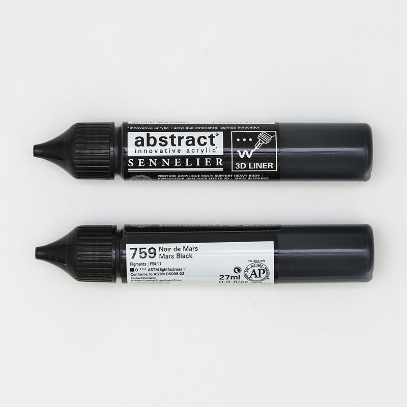 Akrylfärg Sennelier Abstract Liners 27ml Mars Black 759 (3F)