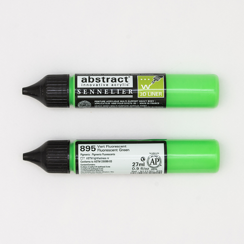 Akrylfärg Sennelier Abstract Liners 27ml Fluo Green 895 (3F)