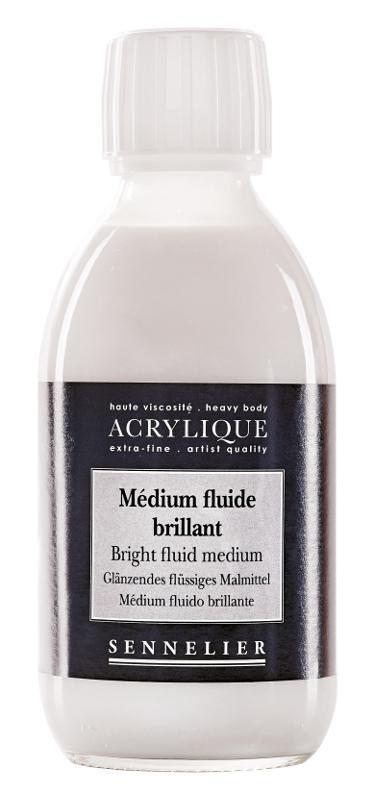 Akrylmedium Sennelier Bright fluid medium > 250 ml