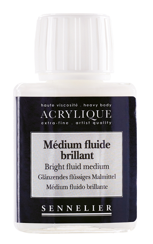 Akrylmedium Sennelier Bright fluid medium > 75 ml (5F)