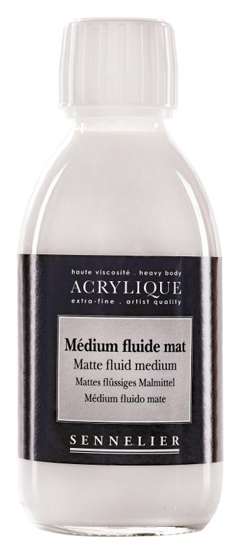 Akrylmedium Sennelier Matte fluid medium > 250 ml