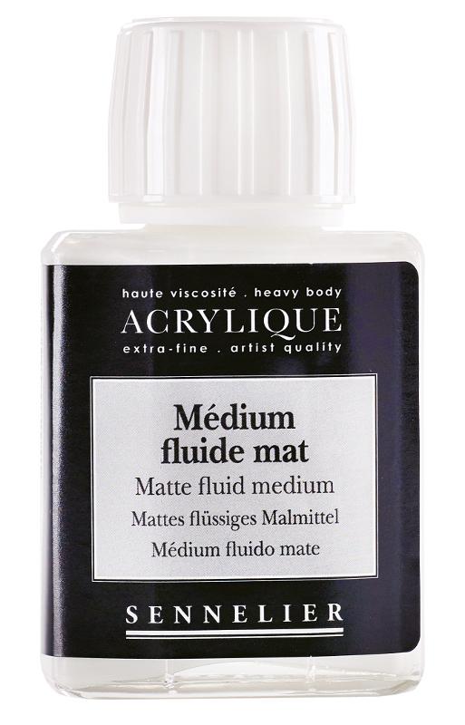 Akrylmedium Sennelier Matte fluid medium > 75 ml (5F)