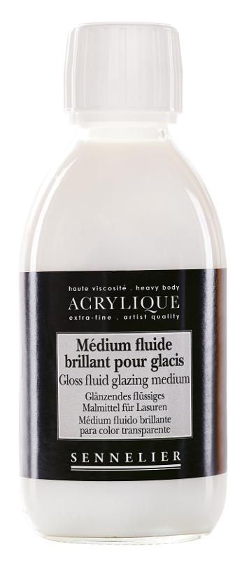 Akrylmedium Sennelier Gloss fluid glazing medium > 250 ml