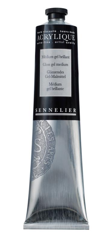 Akrylmedium Sennelier Gloss gel medium > 200 ml