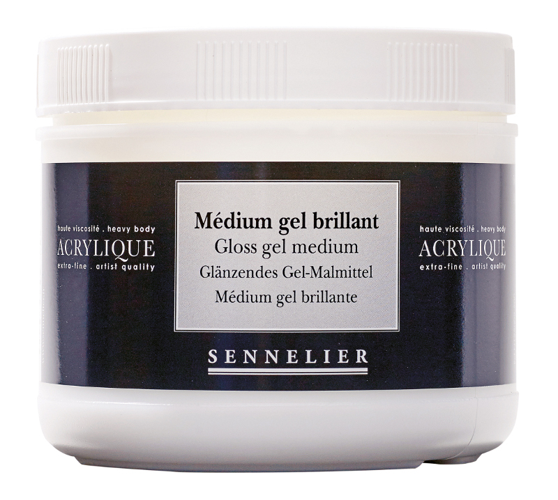 Akrylmedium Sennelier Gloss gel medium > 500 ml