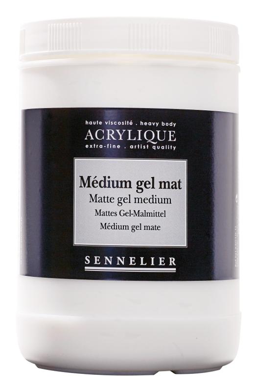 Akrylmedium Sennelier Matte gel medium > 1 Liter