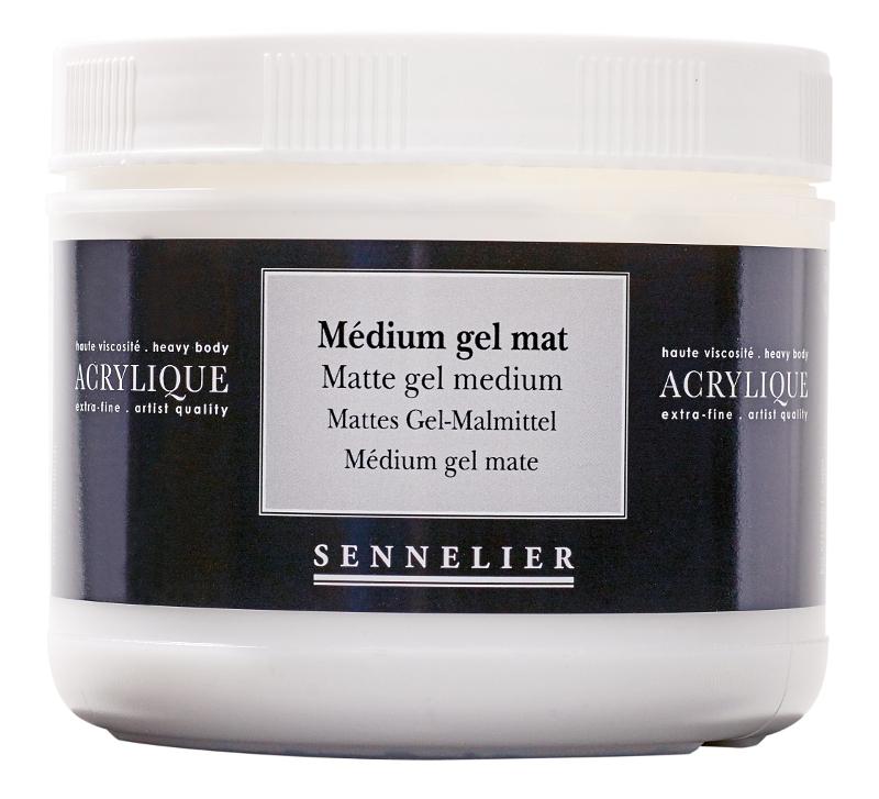 Akrylmedium Sennelier Matte gel medium > 500 ml