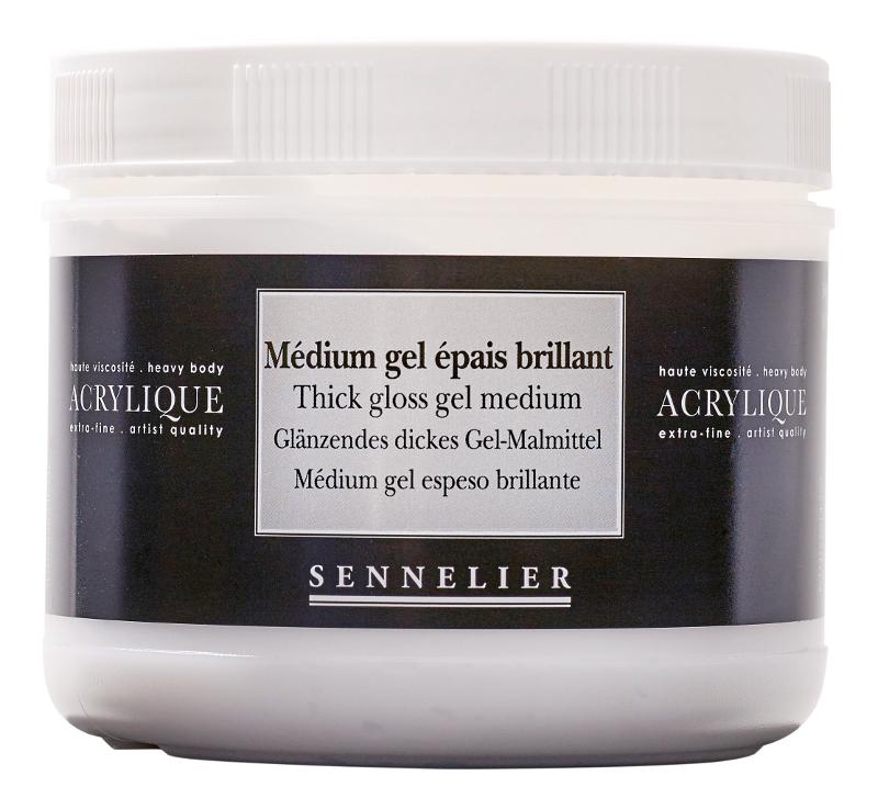 Akrylmedium Sennelier Thick gloss gel medium > 500 ml