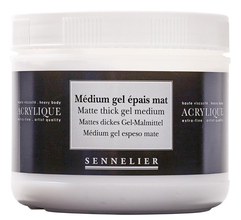 Akrylmedium Sennelier Matte thick gel medium > 500 ml