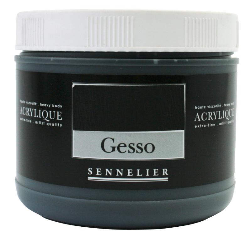 Akrylmedium Sennelier Black gesso > 500 ml