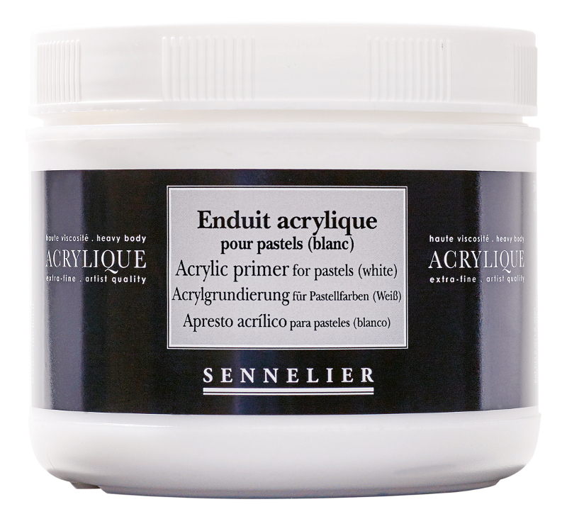 Akrylmedium Sennelier Acrylic primer for pastels (white) > 500 ml