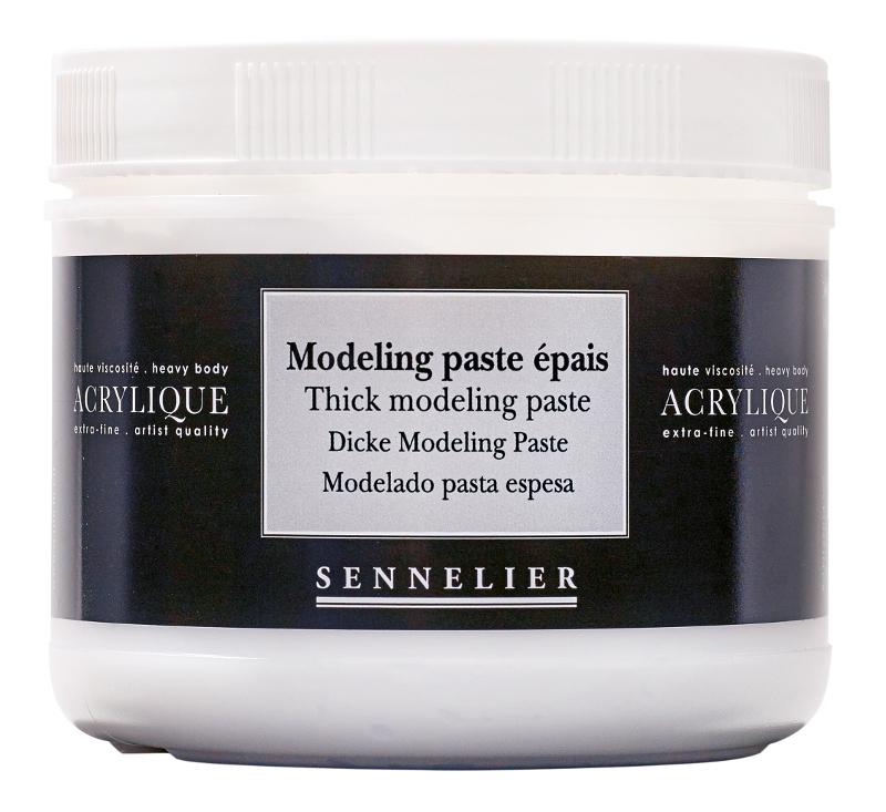 Akrylmedium Sennelier Thick modeling paste > 500 ml