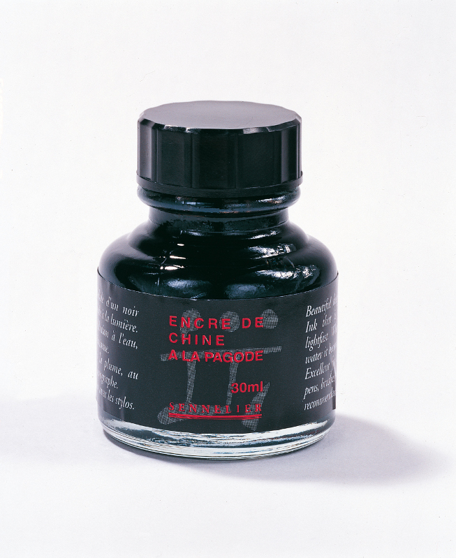 "Tusch Sennelier Ink ""A la Pagode"" Black > 30 ml"