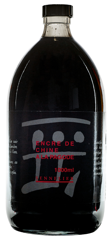 "Tusch Sennelier Ink ""A la Pagode"" Black > 1 Liter"
