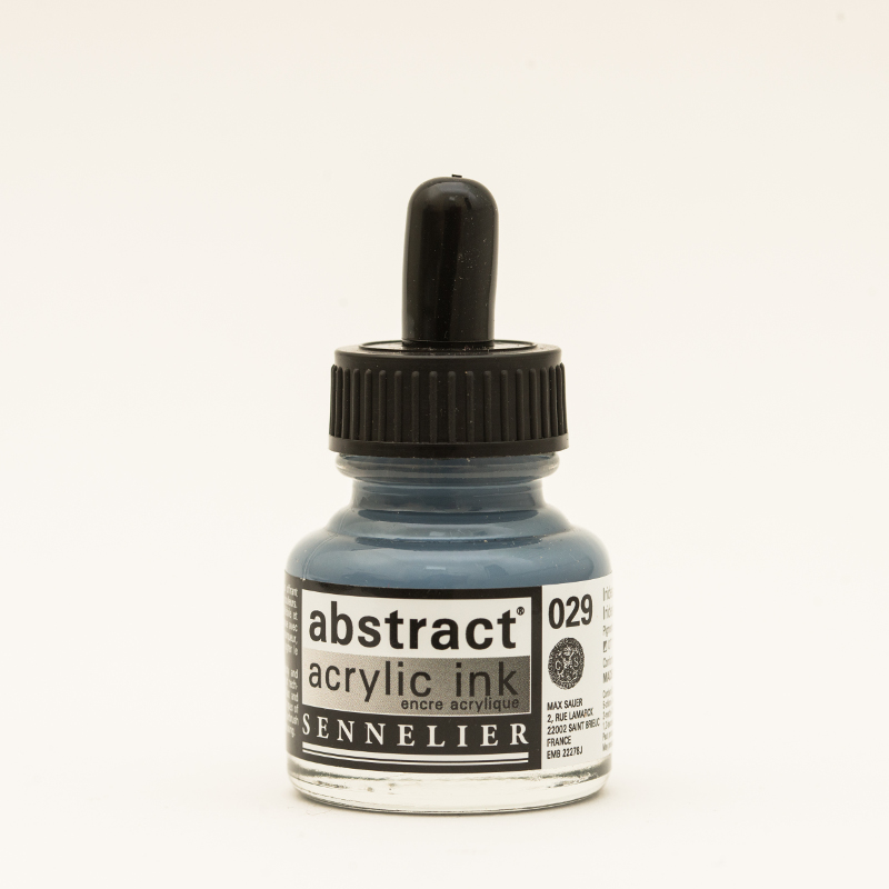 Akrylfärg Sennelier Abstract Acrylic Ink 30 ml Iridescent Silver 029 (3F)