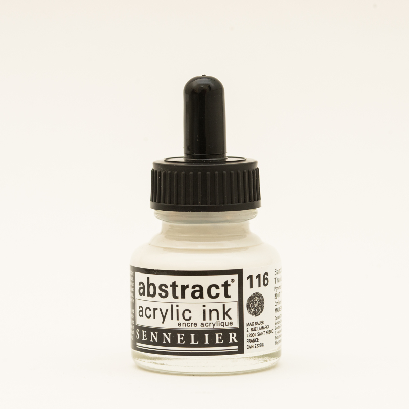 Akrylfärg Sennelier Abstract Acrylic Ink 30 ml Titanium White 116 (3F)