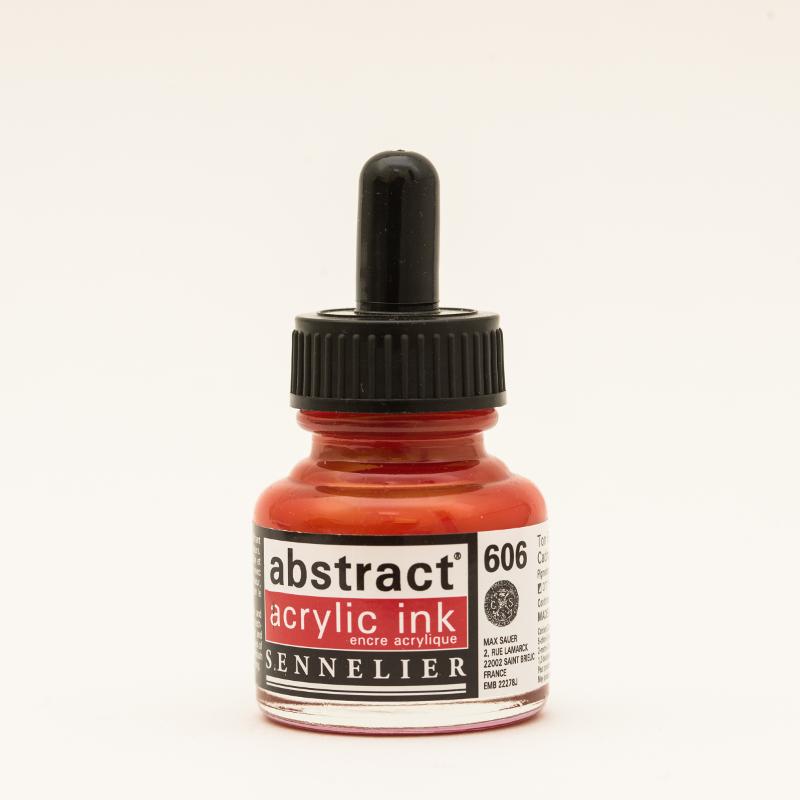 Akrylfärg Sennelier Abstract Acrylic Ink 30 ml Cadmium Red deep hue 606 (3F)