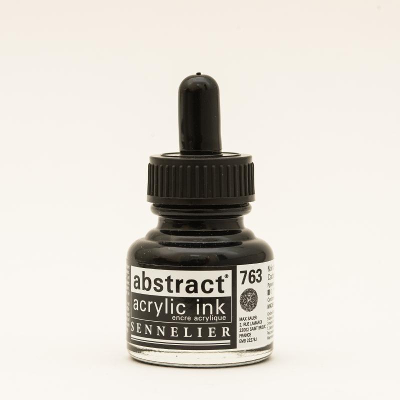 Akrylfärg Sennelier Abstract Acrylic Ink 30 ml Carbon Black 763 (3F)
