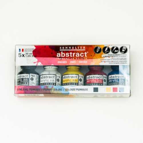 Akrylfärgset Sennelier Abstract ink set 5x30ml