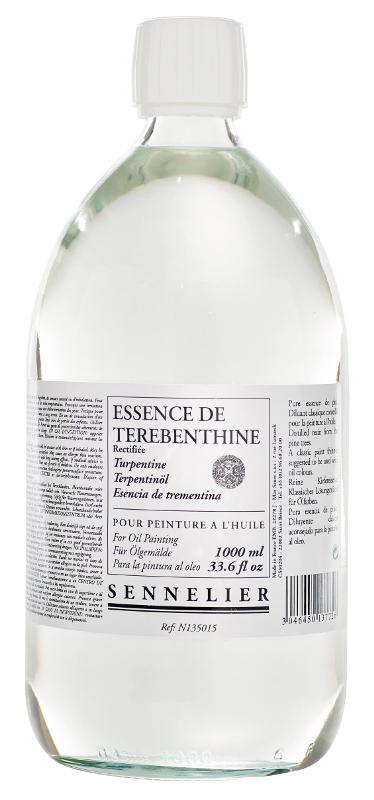 Oljemedium Sennelier Rectified turpentine spirits > 1 Liter