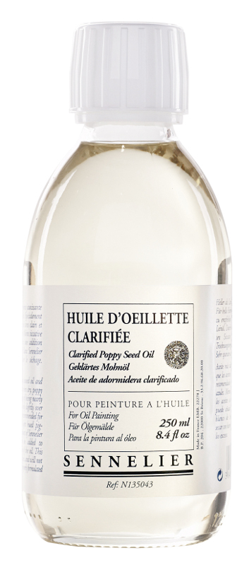 Oljemedium Sennelier Clarified poppy seed oil > 250 ml