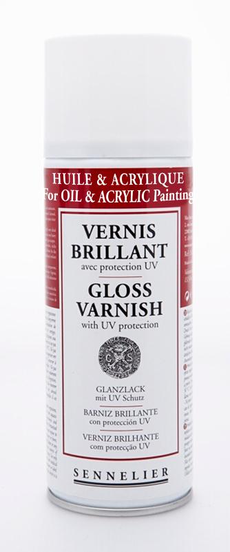Fernissa Sennelier Spray Universal gloss varnish with UV protection > 400 ml (6F)