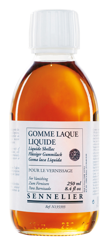 Oljemedium Sennelier Shellac liquid gum > 250 ml