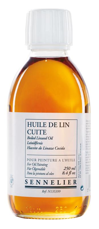 Oljemedium Sennelier Boiled linseed oil > 250 ml