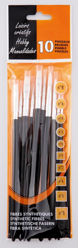Penselset 10 syntethobbypenslar kort skaft