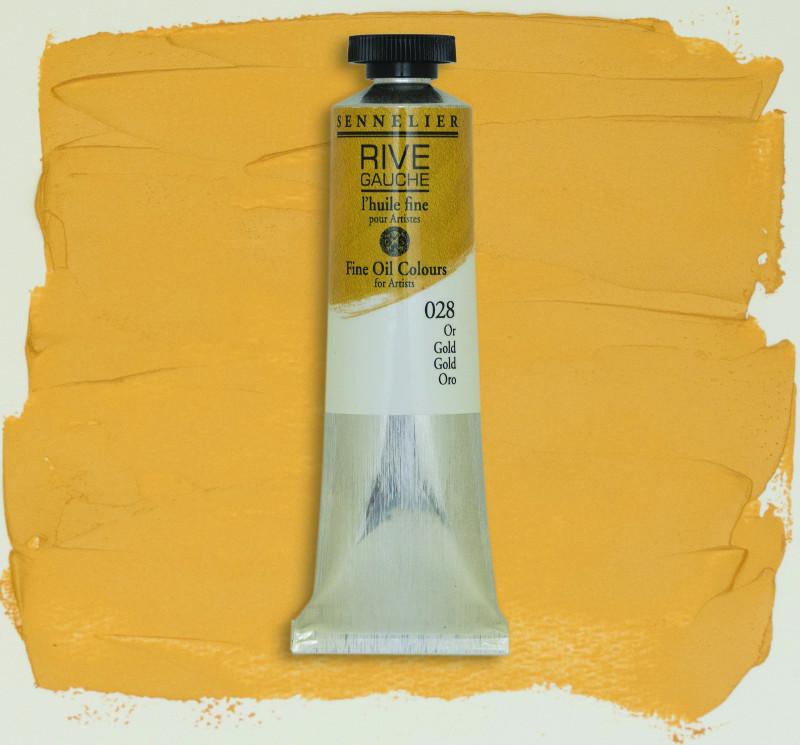 Oljefärg Sennelier Rive Gauche 40ml  Gold 028 (3F)