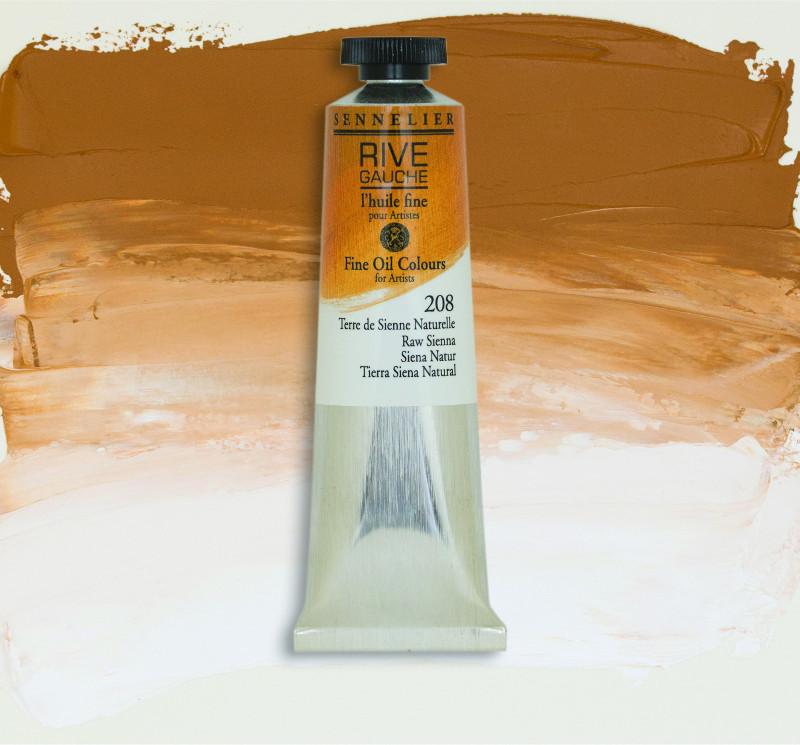 Oljefärg Sennelier Rive Gauche 40ml  Raw Sienna 208 (3F)