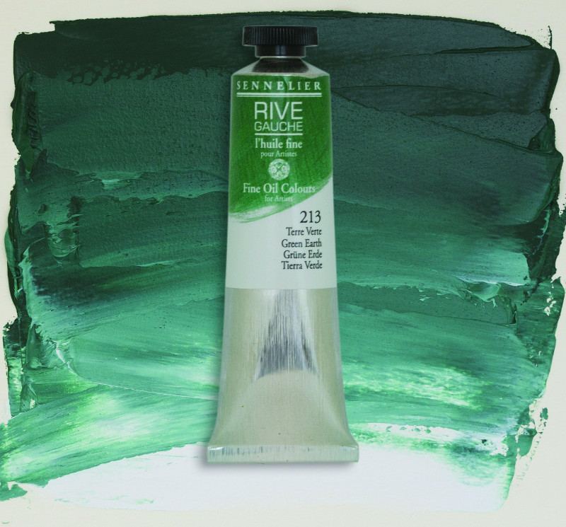 Oljefärg Sennelier Rive Gauche 40ml  Green Earth 213 (3F)