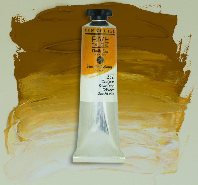 Oljefärg Sennelier Rive Gauche 40ml  Yellow Ochre 252 (3F)