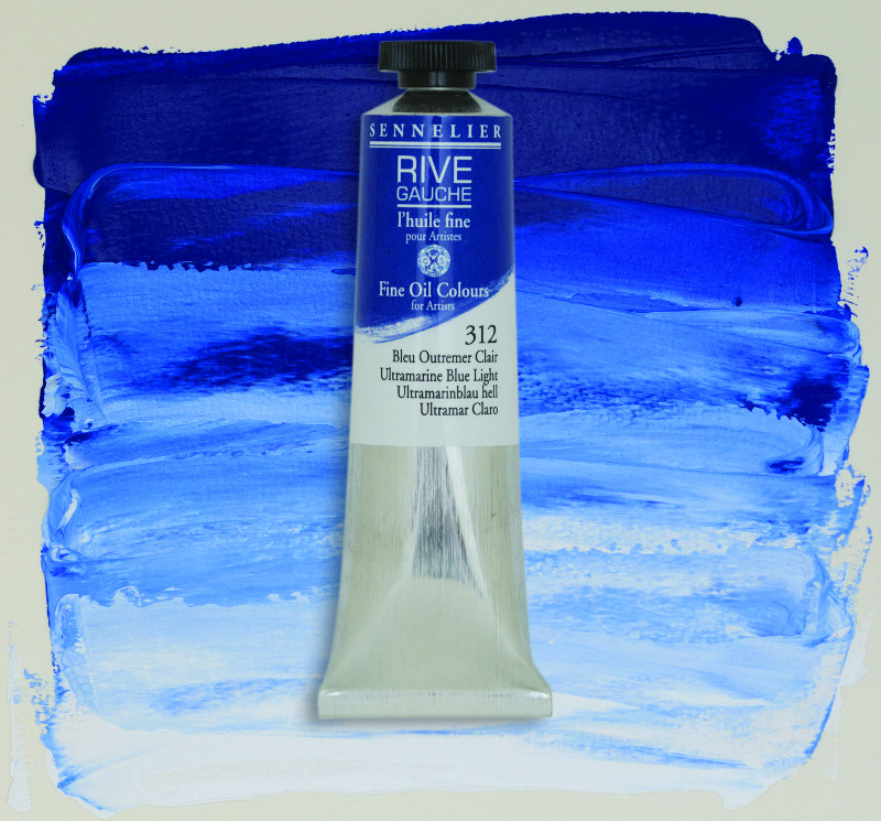 Oljefärg Sennelier Rive Gauche 40ml  Ultramarine Blue Light 312 (3F)