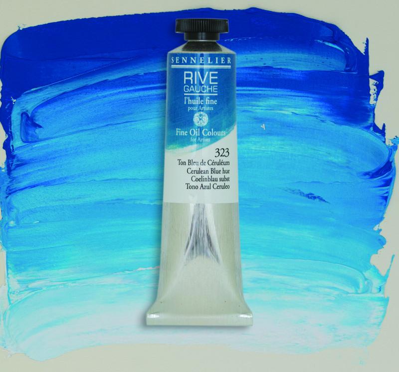 Oljefärg Sennelier Rive Gauche 40ml  Cerulean Blue Hue 323 (3F)